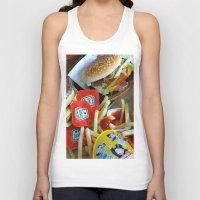 junk food Tank Tops featuring Junk Food by Renatta Maniski-Luke
