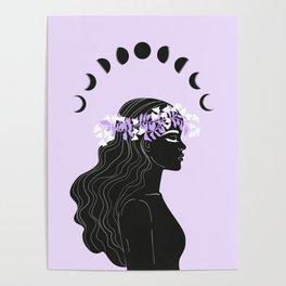 moon meditation Poster