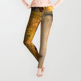Gustav Klimt portrait The Kiss & The Golden Tears (Freya's Tears) No. 2 Leggings