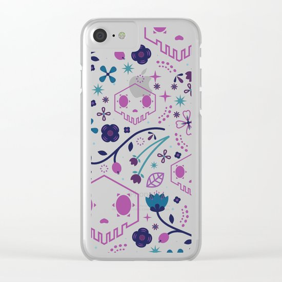 Shadow Skull Clear iPhone Case