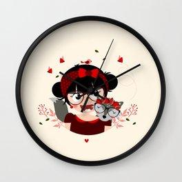 Fille à la louve Wall Clock