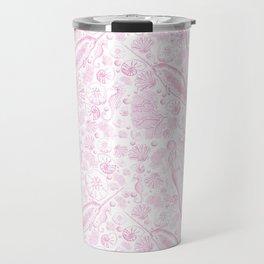 Mermaid Toile - Baby Pink Travel Mug