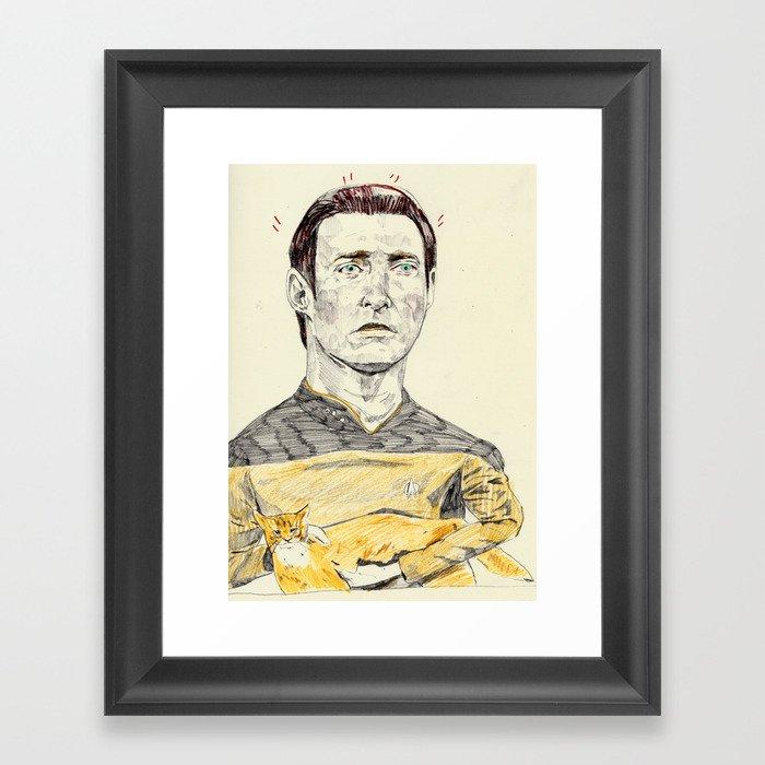 Data and Spot Framed Art Print