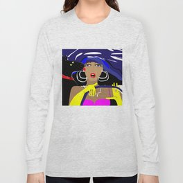 """Driving with my best friend"" Paulette Lust's Original, Contemporary, Whimsical, Colorful Art Long Sleeve T-shirt"