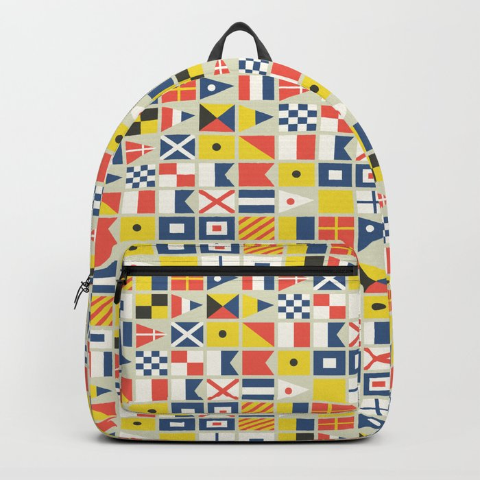 Geometric Nautical flag and pennant Backpack
