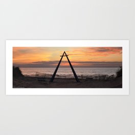 A-Frame Sculpture Art Print