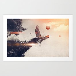 Break away Art Print