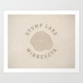 Stump Lake Art Print