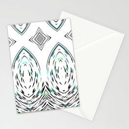 Folk Art Mirror Modern Geometric Pattern Stationery Cards