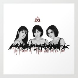 Charmed The Power Of Three Art Print