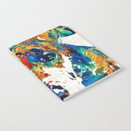 Colorful Great Dane Art Dog By Sharon Cummings Notebook