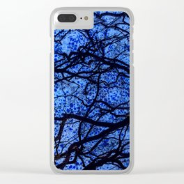 Entwined Branches And Marble Clear iPhone Case