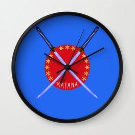 Katana Sword Design Wall Clock