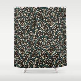 Zig Zag Abstract Geometric Pattern Shower Curtain