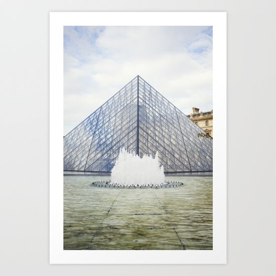 Louvre Pyramid Paris France Art Print