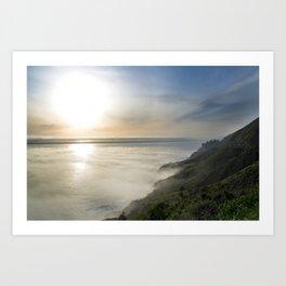 Big Sur California Coast - Sunset Art Print