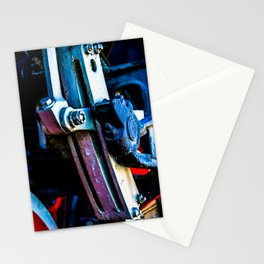 Vintage Driving Mechanical Gear Of A Steam Engine Locomotive Stationery Cards