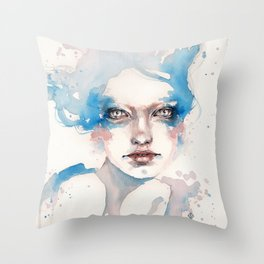In The Shallows (Water Nymph) Throw Pillow