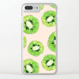 Kiwis pattern Clear iPhone Case