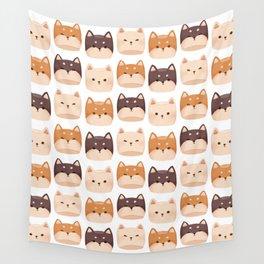 Shiba Inu Marshmallow Wall Tapestry