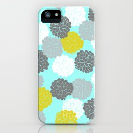 Block Printed Floral iPhone Case