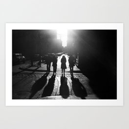 The Four Shadows Art Print