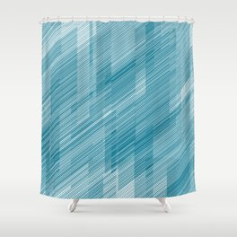 The Blue Hash - Geometric Pattern Shower Curtain