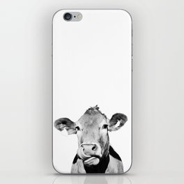Cow photo - black and white iPhone Skin