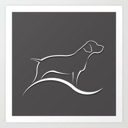 Pointer Dog Art Print