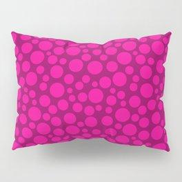 Raspberry pink polka dots . Pillow Sham