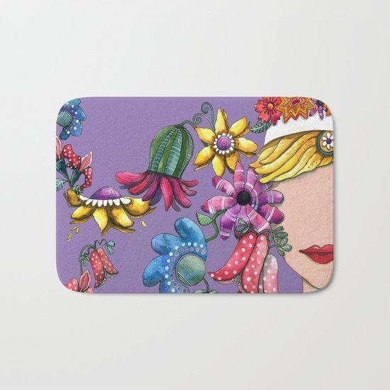 I Love the Flower Girl Lavender Bath Mat