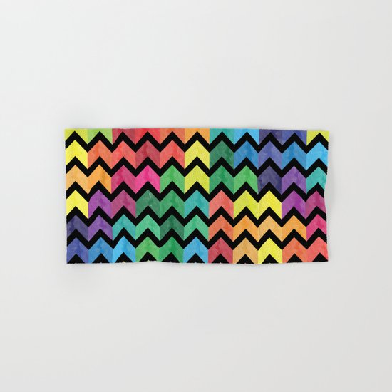 Watercolor Chevron Pattern V Hand & Bath Towel