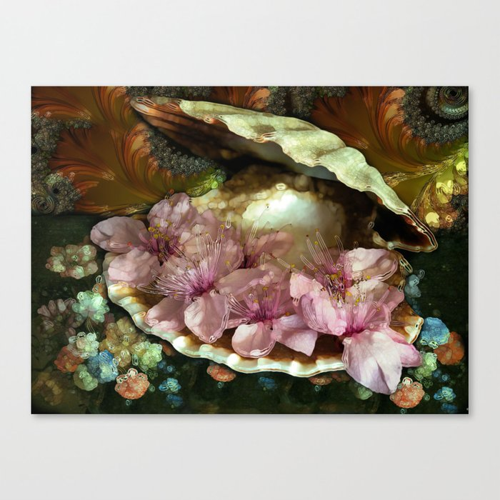 the World is My Oyster Canvas Print