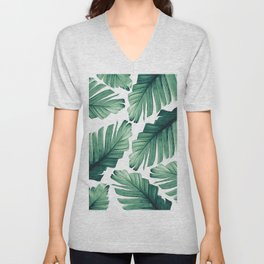 Tropical Banana Leaves Dream #3 #foliage #decor #art #society6 Unisex V-Neck
