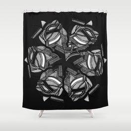 spiralled Shower Curtain