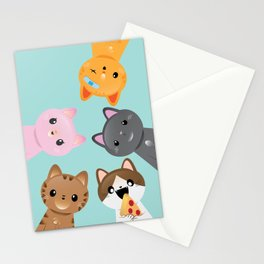 Orignal 5 Tiny Tabbies Stationery Cards