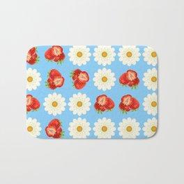 Strawberries and daisies Bath Mat