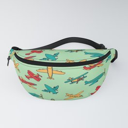 Airplanes - Green Fanny Pack