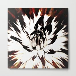 FLAMES AND FLOWES Metal Print