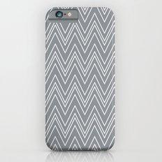 Gray Skinny Chevron iPhone 6 Slim Case