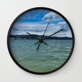 Wellington Harbour Kayakers Wall Clock