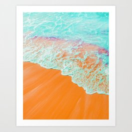 Coral Shore #photography #digitalart Art Print