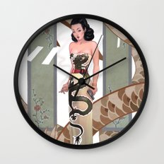 Dragon Lady Wall Clock