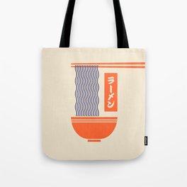 Ramen Japanese Food Noodle Bowl Chopsticks - Cream Tote Bag