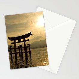 Sunset at Miyajima Stationery Cards