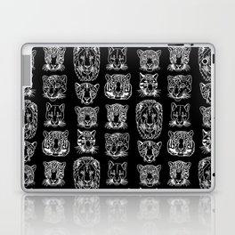 Kickass Kitties - white on black Laptop & iPad Skin