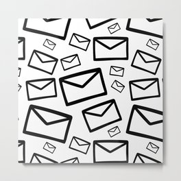 Black&white envelopes everywhere Metal Print