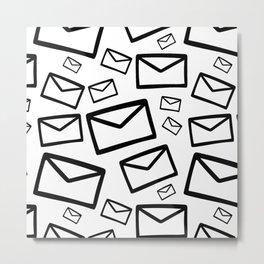 Black&white envelopes everywhere Metal Print