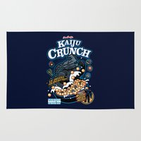 kaiju Area & Throw Rugs featuring Kaiju Crunch by Matt Dearden