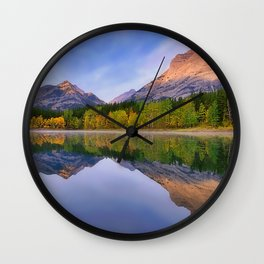 Sunrise Mountain Reflections Wall Clock